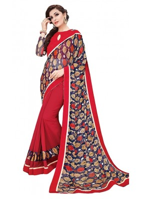 Party Wear Multicolour Georgette Saree - RKSAPAV1318