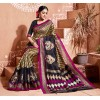 Designer Brown & Dark Blue Printed Baghalpur Silk Saree - RKVI14904 ( FH-RKVI14904 )