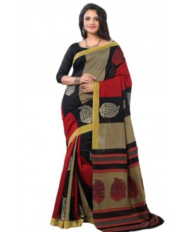 Ethnic Wear Multicolour Art Silk Saree - RKAP8906