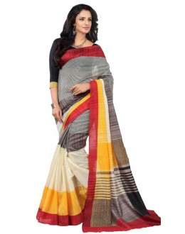 Casual Wear Multicolour Art Silk Saree - RKAP8907
