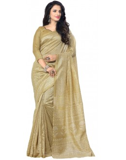 Ethnic Wear Beige & Gold Art Silk Saree - RKAP8909