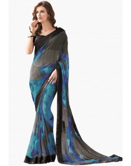 Casual Wear Multicolour Georgette Saree  - RKLP4292