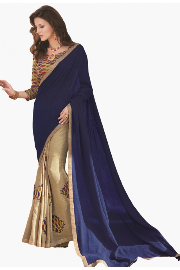 Party Wear Multicolour Georgette Saree  - RKLP4307