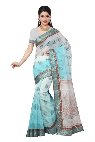 Casual Wear Multicolour Saree  - RKMF1266