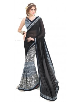 Casual Wear Multicolour Georgette Saree  - RKNK1006