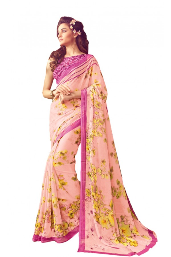 Casual Wear Light Pink Saree  - RKSARD426