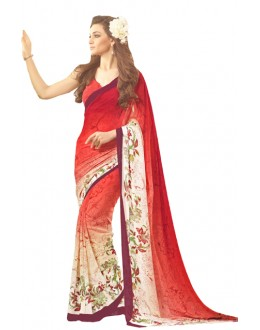 Casual Wear Red Saree  - RKSARD428