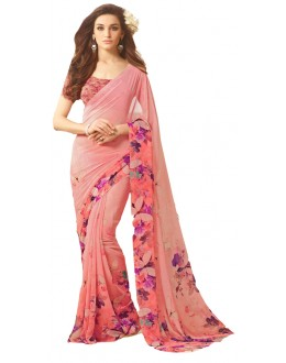 Casual Wear Multicolour Georgette Saree  - RKSARD433