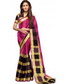 Party Wear Pink & Magenta Gold Saree - RKSPAREESAGARNET