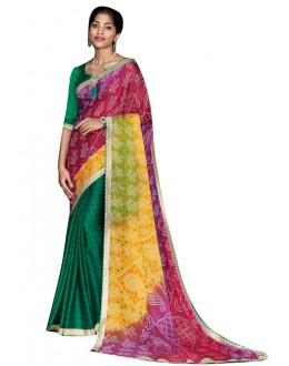 Casual Wear Multicolour Georgette Saree  - RKVI17006