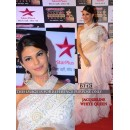 Bollywood Replica - Jacqueline Fernandez In Designer White Nylon Net Saree - BT-121