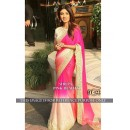 Bollywood Replica - Shilpa Shetty In Designer Hot Pink & Cream Saree - BT-122