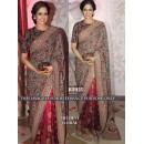 Bollywood Replica - Sri Devi In Designer Multi-Colour Silk Georgette Saree - BT-125