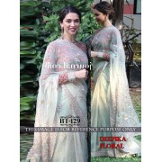 Bollywood Replica - Deepika Padukone In Designer Shaded Blue Net  Saree - BT-129