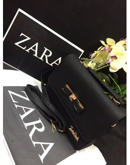 Zara Black Party Wear High Quality Sling Bag - JC03