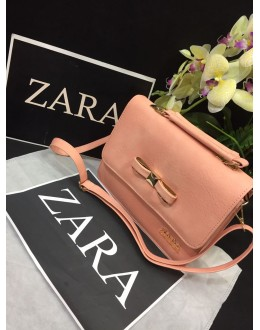 Zara Peach Party Wear High Quality Sling Bag - JC02