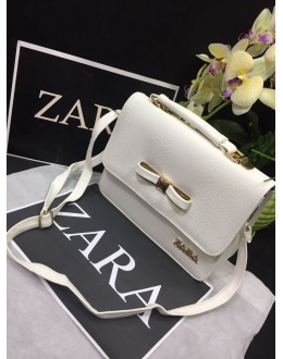 Zara Elegant White Party Wear High Quality Sling Bag - JC04