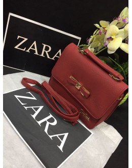 Zara Red Party Wear High Quality Sling Bag - JC05