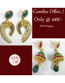 ETHNIC TRADITIONAL EARRINGS COMBO OFFER-2