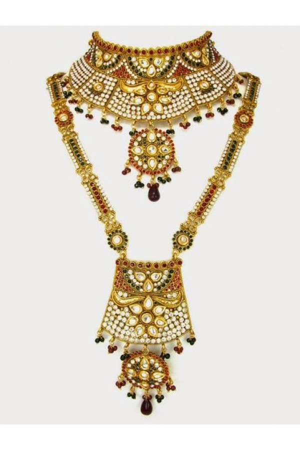 Polki Bridal Necklace Sets - 69954 (SD-12)