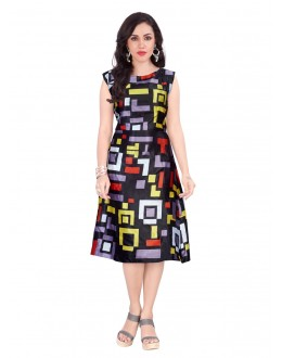 Readymade Multi-Colour Western Wear Dress - 30093