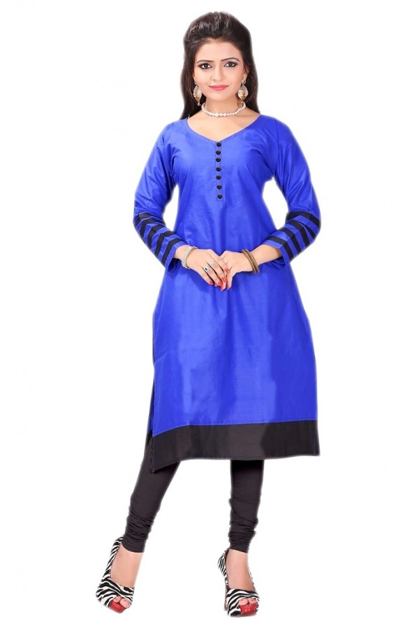 Casual Wear Cotton Blue Kurti - 50022