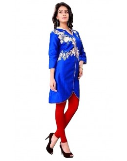 Casual Wear Cotton Blue Kurti - 50024