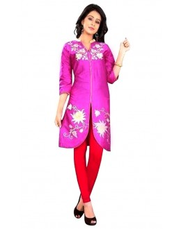 Casual Wear Cotton Pink Kurti - 50025