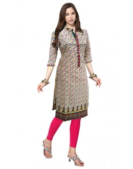 Office Wear Readymade Multicolour Cotton Kurti - 50126