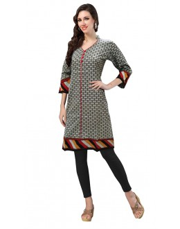 Casual Wear Readymade Multicolour Cotton Kurti - 50137