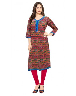 Ethnic Wear Readymade Multicolour Cotton Kurti - 50138