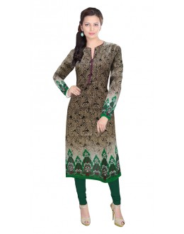 Party Wear Readymade Multicolour Cotton Kurti - 50146