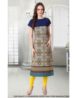 Office Wear Readymade Crepe Kurti - 50284