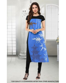 Party Wear Readymade Crepe Kurti - 50293