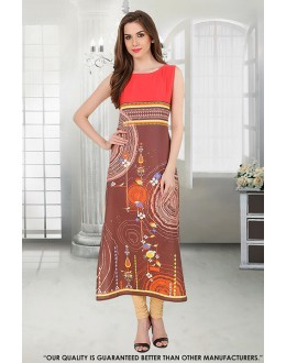 Ethnic Wear Readymade Multi-Colour Crepe Kurti - 50297