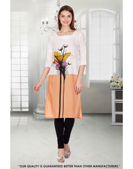 Casual Wear Readymade Multi-Colour Crepe Kurti - 50299