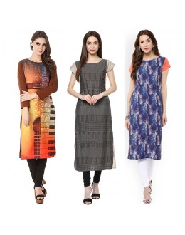 Casual Wear Readymade Kurti Combo Pack Of 3 - 50-323-333-327