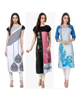 Ethnic Wear Readymade Combo Pack Of 3 Kurti - 50-325-329A-330A