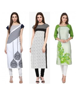 Office Wear Readymade Kurti Combo Pack Of 3 - 50-325-331-330B