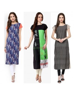Casual Wear Readymade Combo Pack Of 3 Kurti - 50-327-329B-333