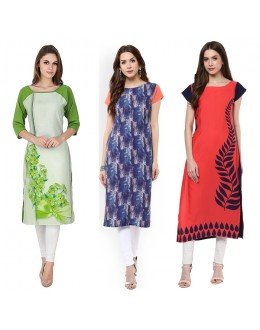 Office Wear Readymade Kurti Combo Pack Of 3 - 50-330B-327-324
