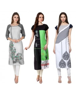 Ethnic Wear Readymade Kurti Combo Pack Of 3 - 50-330C-329B-325