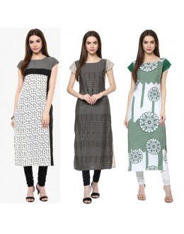 Office Wear Readymade Kurti Combo Pack Of 3 - 50-331-333-334
