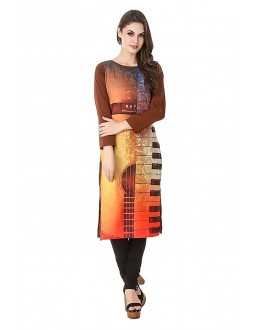 Office Wear Readymade Crepe Kurti - 50323