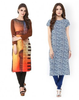 Office Wear Readymade Kurti Combo Pack Of 2 - 50323-50328