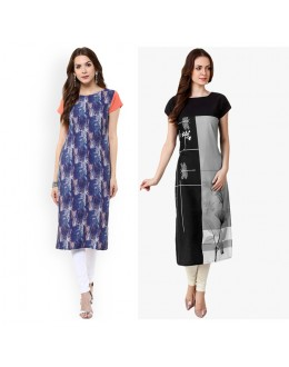 Ethnic Wear Readymade Combo Pack Of 2 Kurti - 50327-50329C