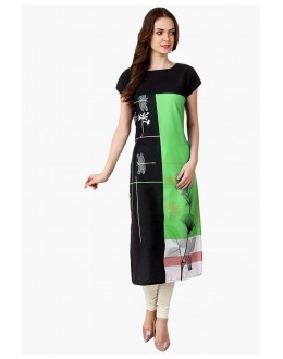 Ethnic Wear Readymade Multi-Colour Crepe Kurti - 50329B