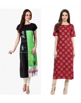 Festival Wear Readymade Kurti Combo Pack Of 3 - 50329B-50326