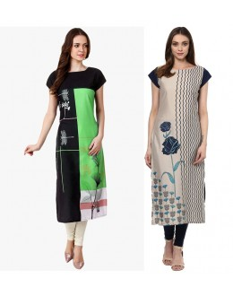 Ethnic Wear Readymade Combo Pack Of 2 Kurti - 50329B-50332