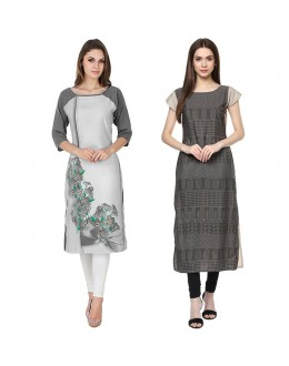 Office Wear Readymade Combo Pack Of 2 Kurti - 50330C-50333